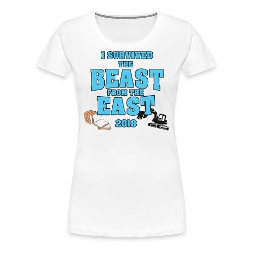 Beast from the East Survivor - Women's Premium T-Shirt