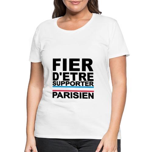 fier parisien noir 01 - T-shirt Premium Femme