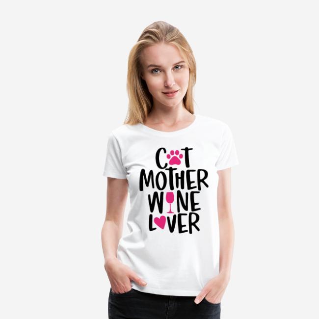 Katze Mutter Weinliebhaber