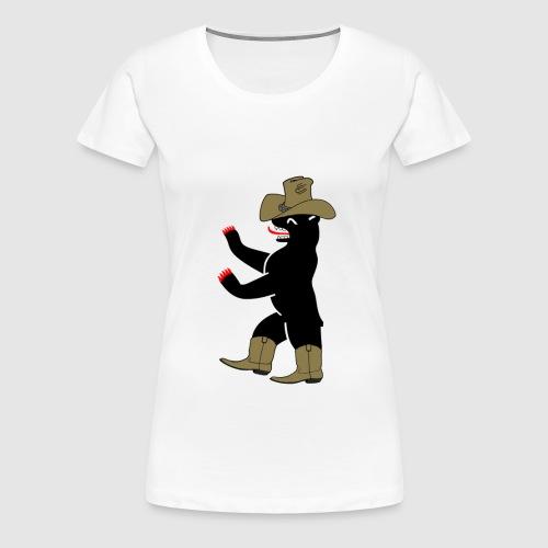 Berlin Bär cowboy - Frauen Premium T-Shirt