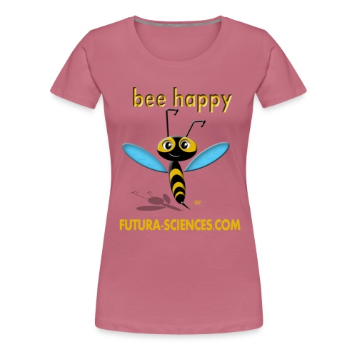 bee happy bon dpi jaune - T-shirt Premium Femme