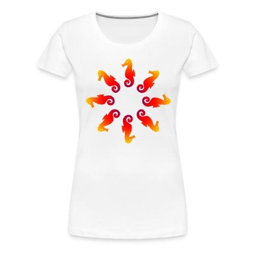 seepferde01 - Frauen Premium T-Shirt