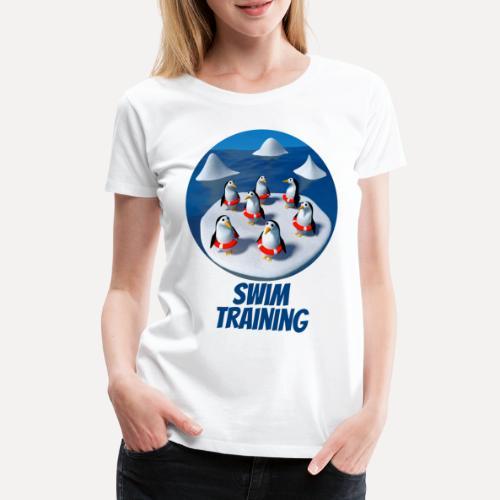 Pinguine beim Schwimmunterricht - Women's Premium T-Shirt