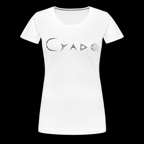 CYADO FAT BLACK - T-shirt Premium Femme