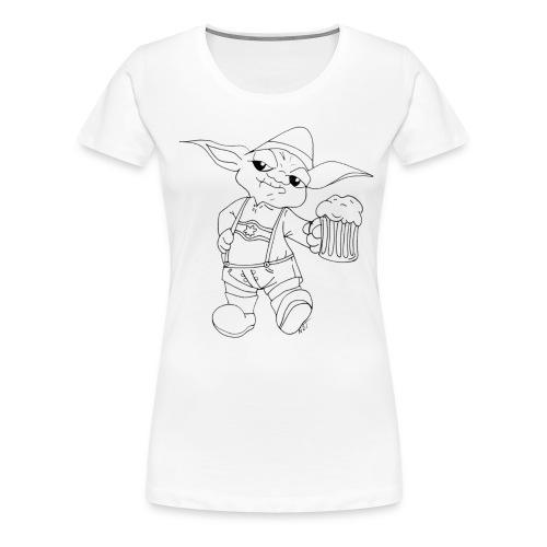Yoda Lederhose - Frauen Premium T-Shirt