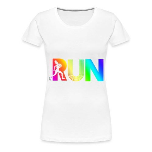 run rainbow running athletic - T-shirt Premium Femme