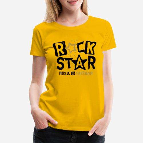 rock star music freedom - Frauen Premium T-Shirt