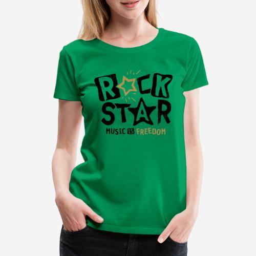 rock star music freedom - Frauen Premium T-Shirt