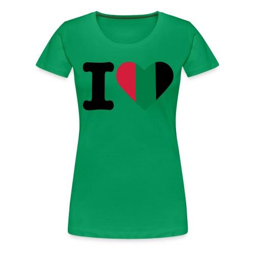 hartjeroodzwartgroen - Vrouwen Premium T-shirt