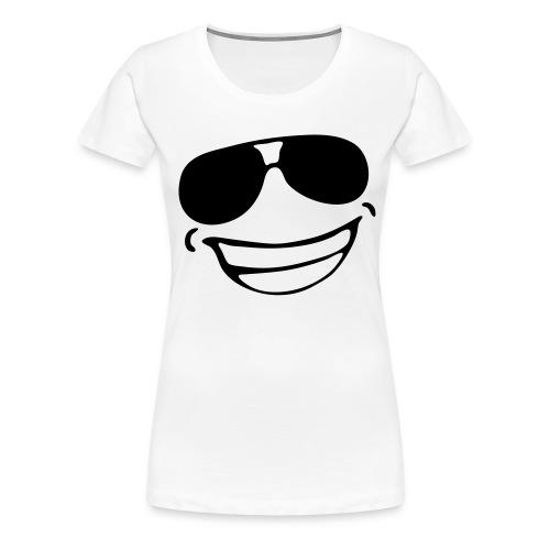 avec des heureux lunettes - T-shirt Premium Femme