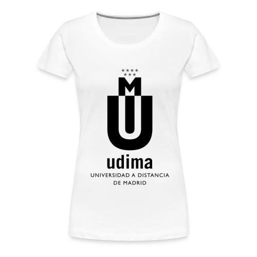 logoudimaverticalbn - Camiseta premium mujer