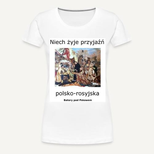 przyjaznpolskorosyjska 2 - Koszulka damska Premium