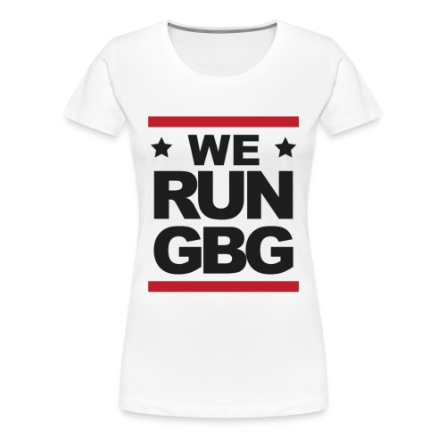 We run GBG svart tryck - Premium-T-shirt dam