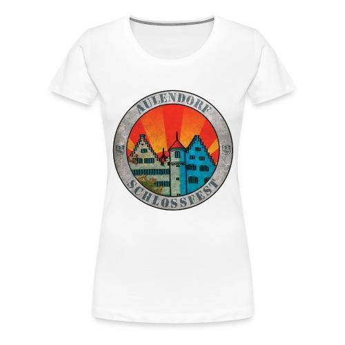 Schlossfest Shirt Grunge - Frauen Premium T-Shirt