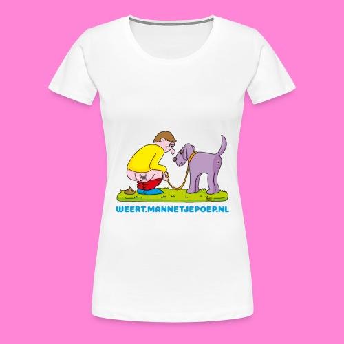 Mannetje Poep Illustratie - Vrouwen Premium T-shirt
