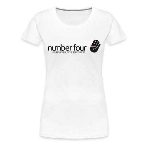 numberfour black - Frauen Premium T-Shirt