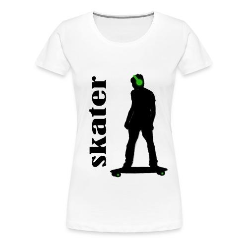 skater green copia - Camiseta premium mujer