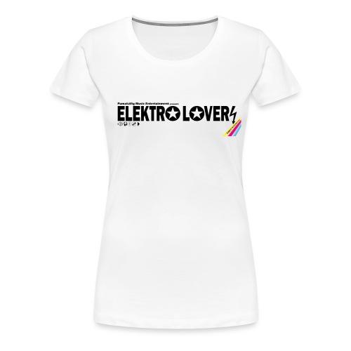 elektro lovers logo black transparent01 - Frauen Premium T-Shirt