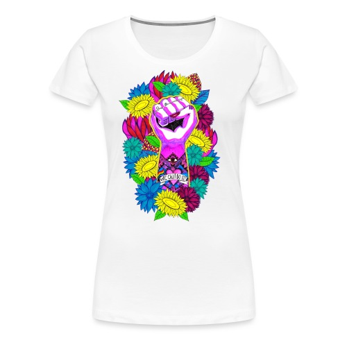 Flower power - Premium-T-shirt dam