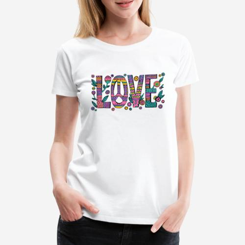 love peace hippie style - Frauen Premium T-Shirt