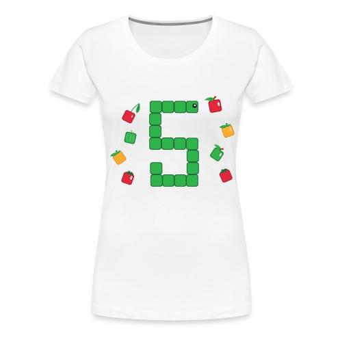 Serpent Tetris - T-shirt Premium Femme