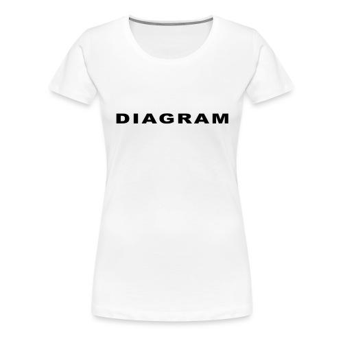 DIAGRAM Word Edition - T-shirt Premium Femme