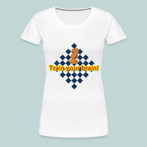 Train your brain blau-gelb - Frauen Premium T-Shirt