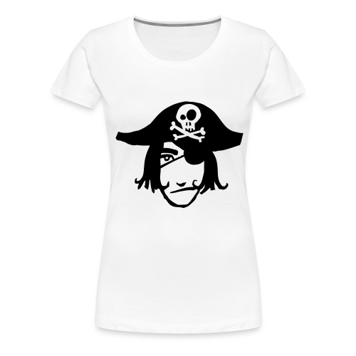 pirat kopf 1c - Frauen Premium T-Shirt