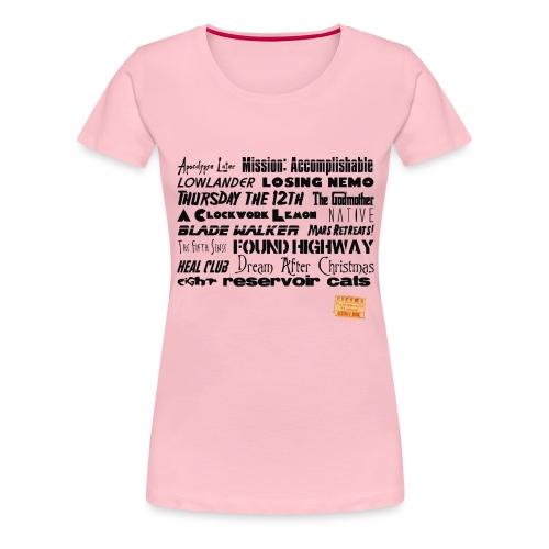 Anti titles - Dame premium T-shirt