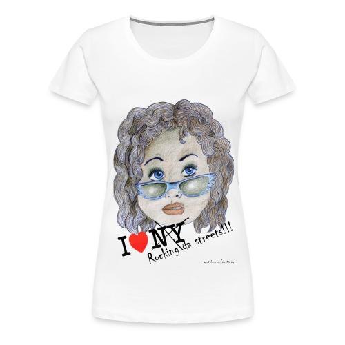 I love rocking da streets - whoopie goldberg - - Frauen Premium T-Shirt