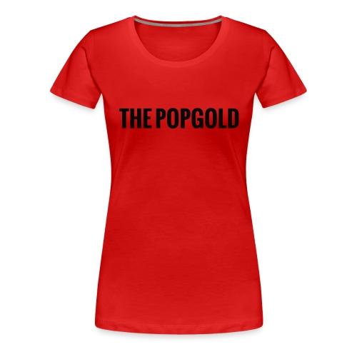 schrift black - Frauen Premium T-Shirt