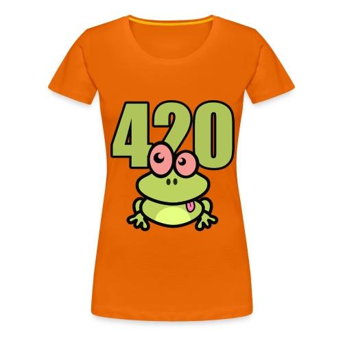 420 Frosch - Frauen Premium T-Shirt