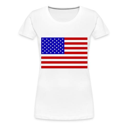 USA Flagge groß - Frauen Premium T-Shirt