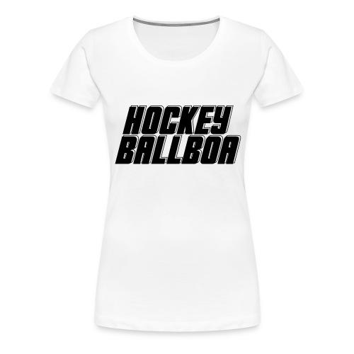 Classic T-Shirt (white black) - Frauen Premium T-Shirt