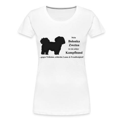 Bolonka Zwetna mit schwarzer Schrift - Frauen Premium T-Shirt