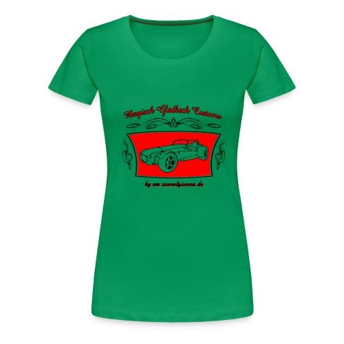 77 pinstripe schwarz - Frauen Premium T-Shirt