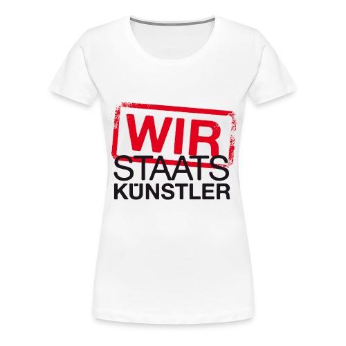 wir staatskunstler logo 2c - Frauen Premium T-Shirt