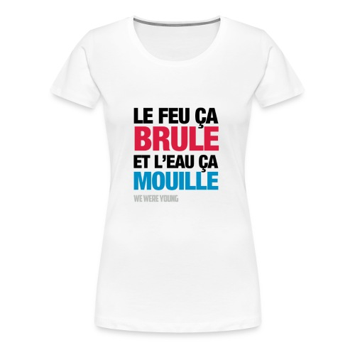 feu png - T-shirt Premium Femme