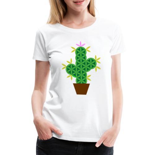 The Cactus Of Life - Sacred Plants - Women's Premium T-Shirt