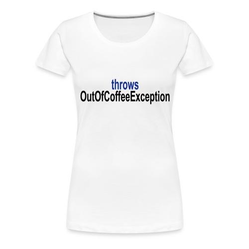 Java Kaffee - Frauen Premium T-Shirt