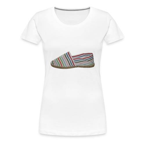 espadrilles gestreift quer freigestellt - Frauen Premium T-Shirt