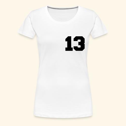 13 black - Frauen Premium T-Shirt