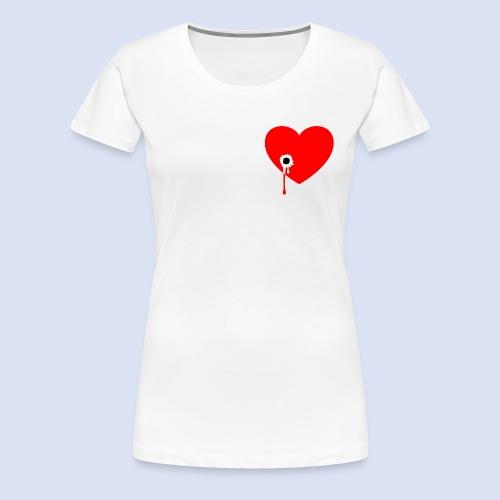 Cœur troué - T-shirt Premium Femme