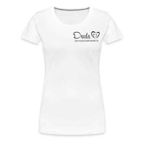 doula sydämet synnytystukihenkilö - Naisten premium t-paita