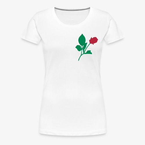 Rose-zweifarbig - Frauen Premium T-Shirt