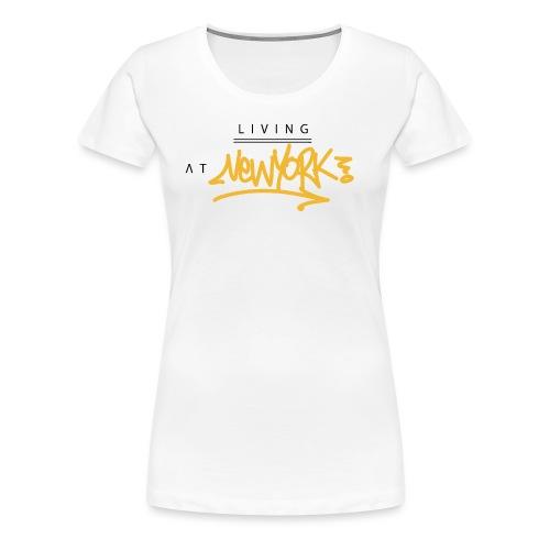 Living @ New-York Street Letters - T-shirt Premium Femme