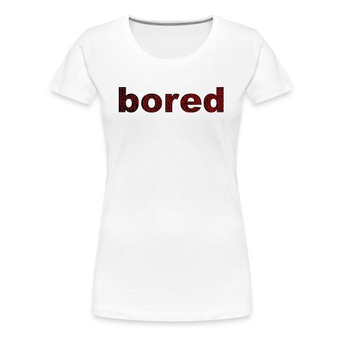 Bored Design rote Punkte auf Schwarz - Frauen Premium T-Shirt