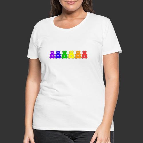 Bärenlust Regenbogen Bären-Reihe - Frauen Premium T-Shirt