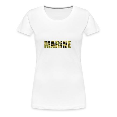 Marine Army - Dame premium T-shirt