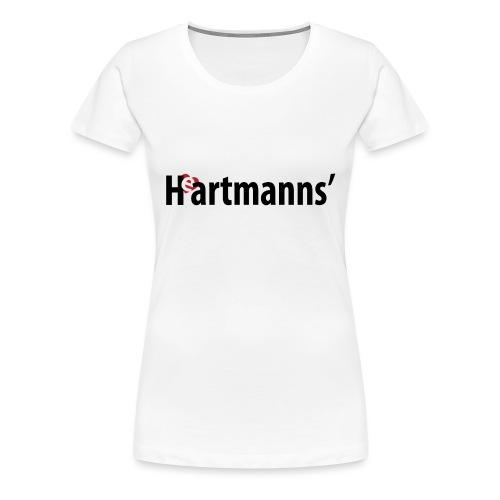 Heartmanns Schriftz. schw - Frauen Premium T-Shirt